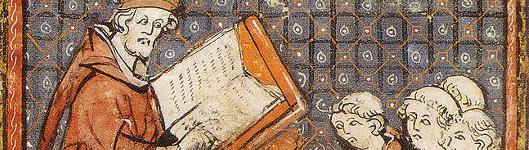 Bild [1]: Lehre in Paris des späten 14. Jahrhunderts; Grandes Chroniques de France
