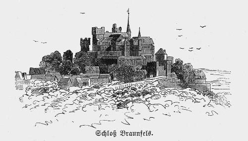 Ansicht Schloss Braunfels um 1865