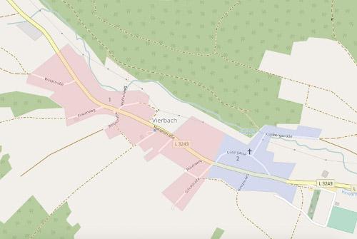 [5] Vierbach,  Gemeinde Wehretal,  Werra-Meißner-Kreis,  Bernsdorf (1) und Wipperode (2)