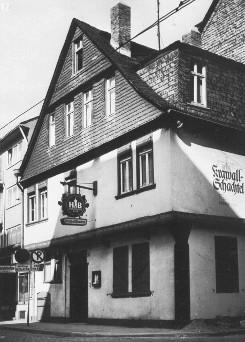 "Abb.1: Gasthaus ""Krawallschachtel"", 1526, Frankfurt (Main)"