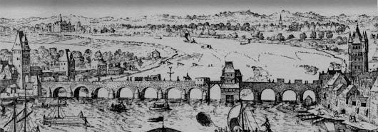 Bild [1]: Frankfurt am Main: Stadtansicht von Südwesten,  Matthäus Merian d.Ä.,  etwa 1617/18,  vor 1619