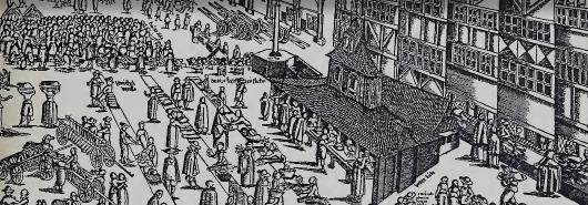 Bild [1]: Marktplatz zu Lübeck, ca. 1580
