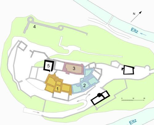 Bild [4]: Lageplan der Burg Eltz