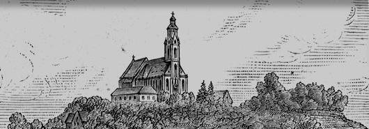"""Bild [1]: Frankenberg,  Landkreis Waldeck-Frankenberg,  """"Ansicht von der Nordwestseite,  1882"""""""