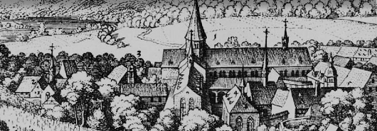 Bild [1]: Kloster Eberbach bei Erbach, Matthäus Merian, 1646