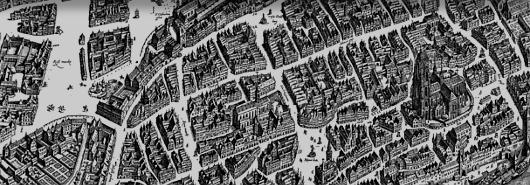 Bild [1]: Stadtplan der Stadt Frankfurt am Main von Matthäus Merian,  1628 (Ausschnitt)