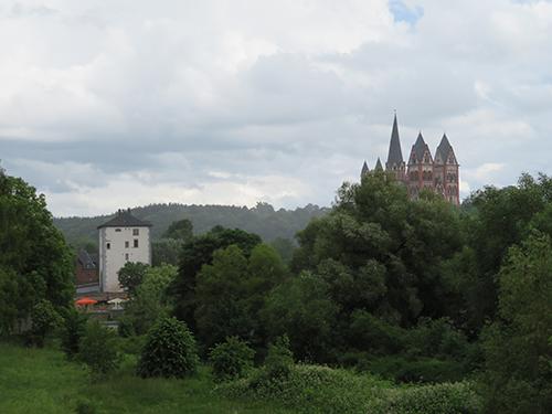 Ostansicht Brückenturm und Dom, Limburg