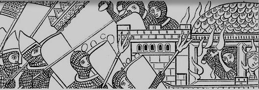 Bild [1]: Sturm auf die Wehrmauer, 12. Jh.