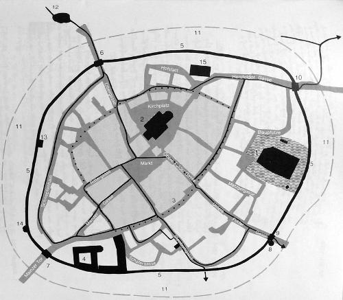Bild [3]: Lageplan der Mauer und der Türme.