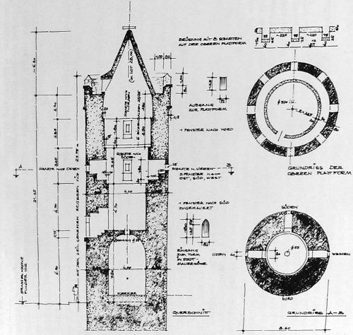 Bild [12]: Skizze eines Schnittes und Grundriss