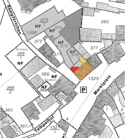 Bild [1]: Ausschnitt des Stadtkatasters Nierstein (o.M.)