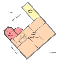 Bild [2]: Obergeschoss-Grundrisses (o.M.)