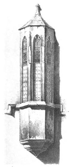 Bild [4]: Kapellenerker am  alten  Teil  des  Nürnberger Rathauses