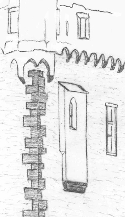 Bild [6]: Der integrierte Kapellenerker der Burg Wernerseck