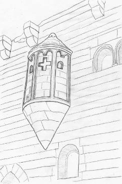 Bild [1]: Kapellenerker der Burg Landsberg im Unterelsass